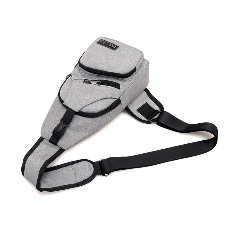 Men's Anti Theft USB Charging Cross body Shoulder Bags 5