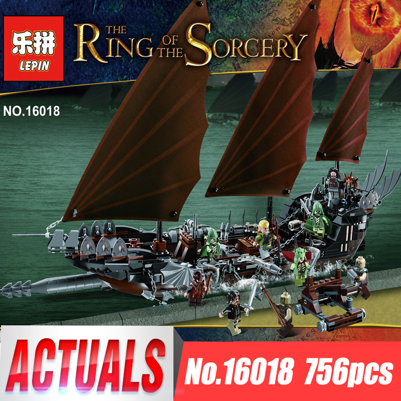 Lepin 16018 Movie Series The lord of rings The Ghost Pirate Ship Set Compatible LegoINys 79008 Building Block Brick Child Toys lepin building blocks genuine the lord of rings series the ghost pirate ship set bricks toys 79008 boat model kids gifts 16018