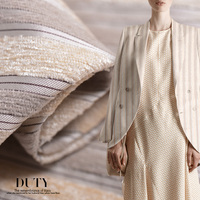 Ultra High End Silk Cashmere Blended Fabric Silk Fabrics Thick Autumn And Winter Fashion Clothing Wholesale