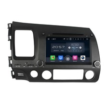 1024*600 Octa Core 8″ Android 6.0 Car DVD GPS for Honda Civic Left 2006-2011 With 2GB RAM Radio Bluetooth 32GB ROM Mirror-link