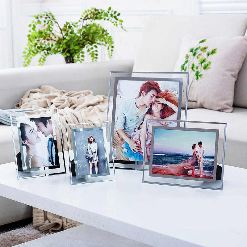 Picture Frame Desktop Ornament Glass Album Home Decoration Living Room Office Photo Frame Certificate Frame Glass Decoration