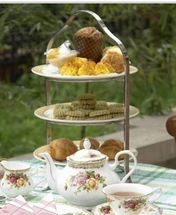4 Tier Iron Metal Cake/ Cupcake/ Dessert/ Fruit Stand, Food Display ...