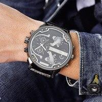 Oulm часы для мужчин часы Лидирующий бренд Военная Униформа кварцевые часы Малый циферблаты украшения сплав ремень мужской наручные...