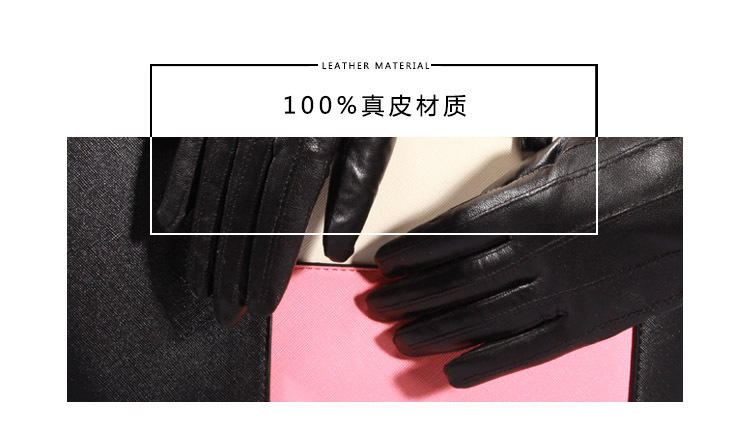624f6ec024f43 Q45 New Fashion Leather Gloves Men's Fine Goatskin with Suede Winter Warmth  Bike Leather Glove Lovers Winter Gloves Men 1 1-2 1-4