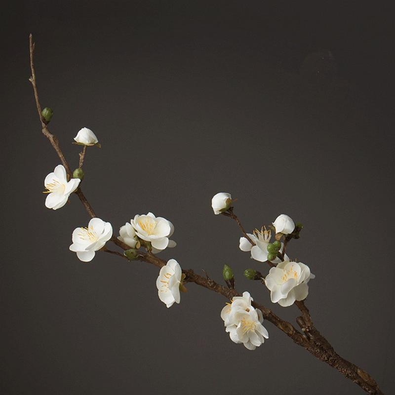 Lule artificiale të stilit baritor për shtëpi / festë / dekor Indouk Lule të bukura të rreme Wintersweet Lule mëndafshi të bëra me dorë
