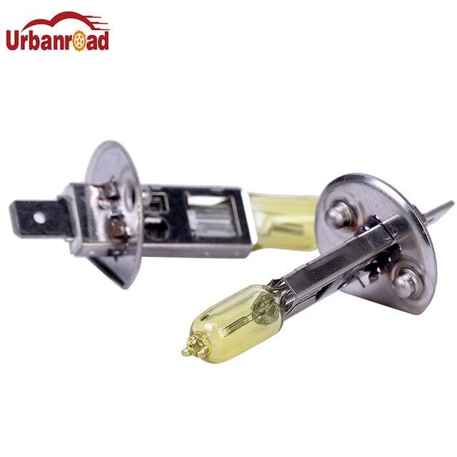 Urbanroad 2PCS  H1 Light Bulbs 3000K Halogen Xenon H1 12V 55W Golden Yellow Fog Factory Price Car Styling Parking
