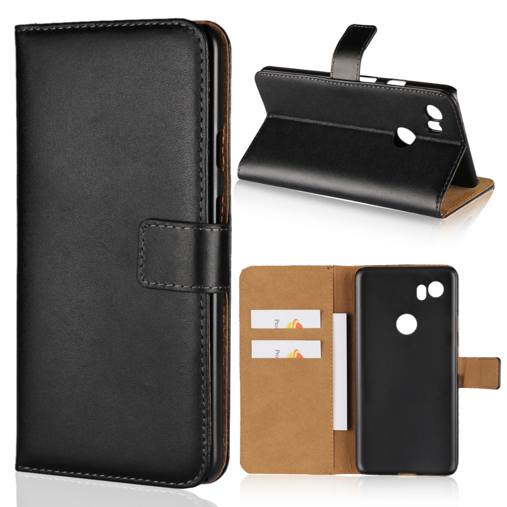 Brand Gligle Genuine Leather Case Cover For Google Pixel 2 XL Case Protective Wallet Shell