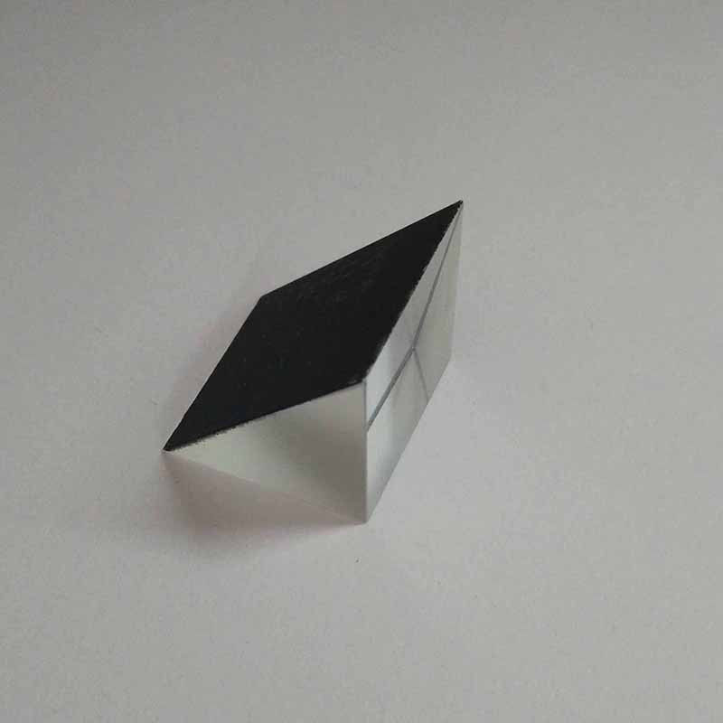 1PC 45 Degree K9 Optical Glass Right Angle Triangular Internal Reflecting Prism