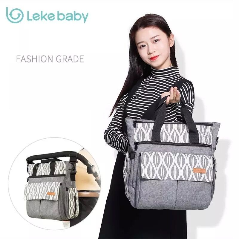 Lekebaby mom travel baby stroller diapers changing mummy maternity diaper tote bag organizer wickeltasche messenger bags hobos
