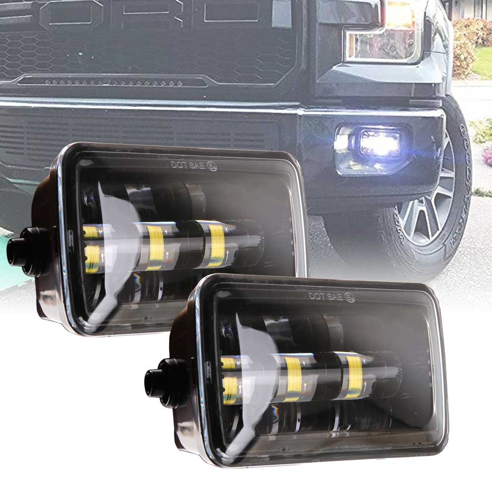 1 pair 36w For 2015 2016 2017 2018 Ford F150 LED Fog Lights High Low Beam
