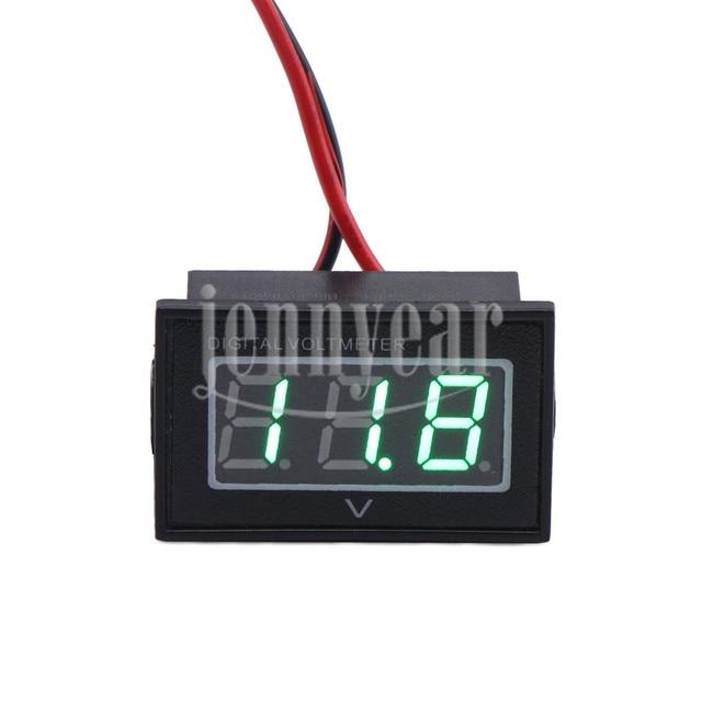 DC Voltmeter DC 2.70~30.0V Green Led Digital Voltage Meter Waterproof Volt Meter for Car Motorcycle etc