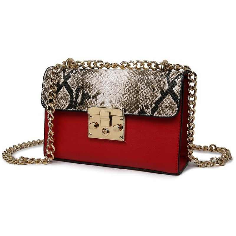 612f86fb4a ... 2019 women bags designer high quality fashion Hasp casual shoulder woman s  messenger bags leather snake chain ...