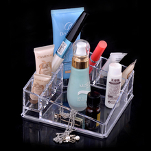 цена на Clear Cosmetic Makeup Organizer Case Acrylic Makeup Drawer Jewelry Container 6 Grid Lipstick Holder SF1119