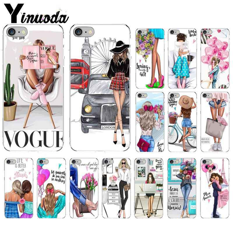 Yinuoda Vogue Christmas Princess Girl Boss Phone Case Cover For Apple Iphone 8 7 6 6s Plus X Xs Max 5 5s Se Xr Mobile Cover