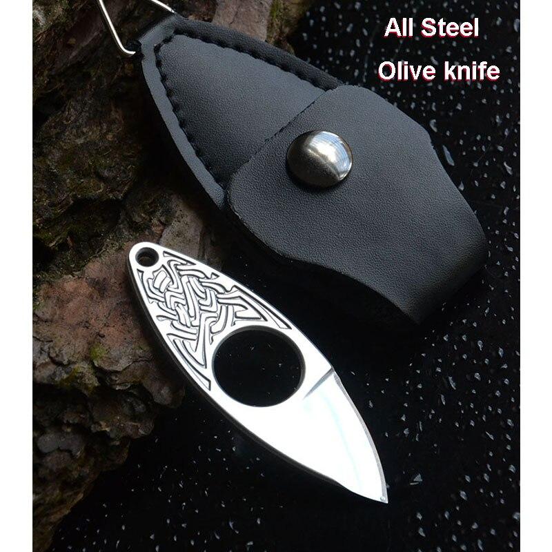 Nouveau Style Mini couteau de poche coupe avec anneau de couverture Sports de plein air Camping auto-défense tactique defensa personnel EDC Stinger