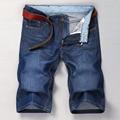 Fashion Denim Men's Jeans Shorts Pants Cotton Dark Blue Male Casual Summer Beanch Staight Jeans Thin Shorts Men Short Pant