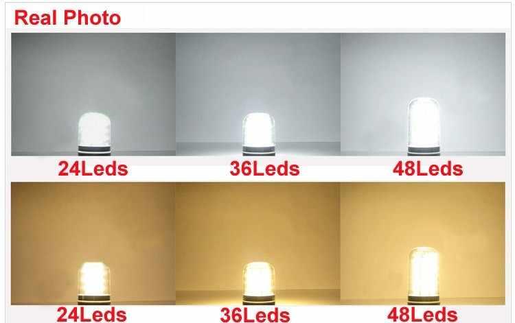 Светодиодный потолочный светильник GU10 E14 светодиодный Кукуруза лампы энергосберегающие лампы 24 светодиодный s 42 светодиодный s 220 V лампы Lamparas пятно света дома люстра-прожектор