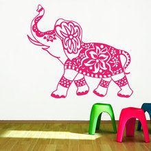 Wall Decal Elephant Mandala Meditation Buddha Eastern Bohemian Sticker  Bedroom Yoga Home Decor Vinyl H-8