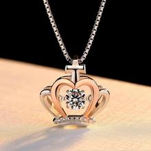 Everoyal Trendy Zircon Crown Girls Pendant Necklace Jewelry Vintage 925 Sterling Silver Women Clavicle Accessories Lady