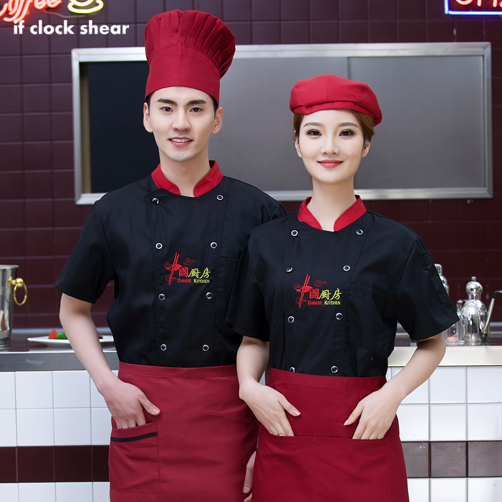 High Quality Food Service Work Shirts Embroidery Cotton Breathable Restaurant Hotel Catering Uniform After Kitchen Chef Jackets