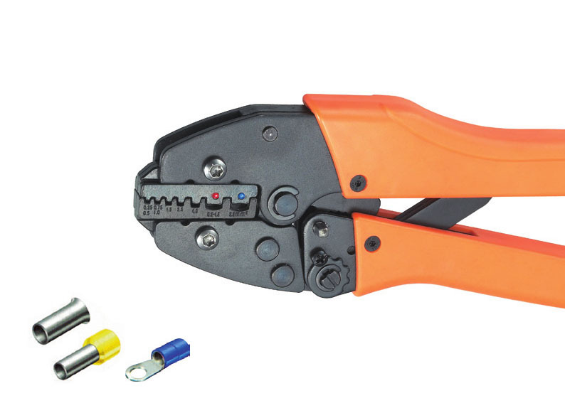Ratchet crimping plier 0.5-2.5mm2  AWG20-13 Dedicated cable connector crimping tool mini small ferrules tool crimper plier for crimping cable end sleeves from 0 25 2 5mm2