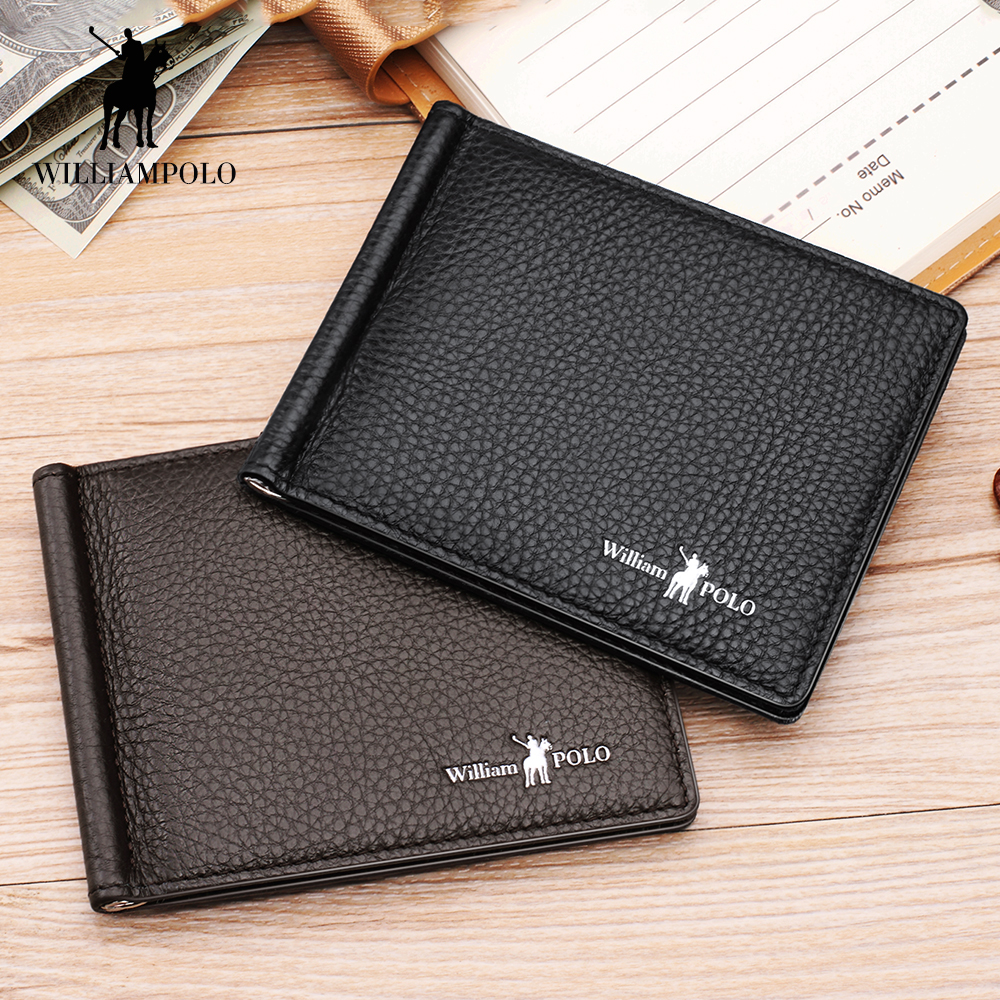 Wallet Genuine Leather Slim Bifold Credit Card Holder male coin pocket Purse Business clutch bag brand men wallets billfold 129