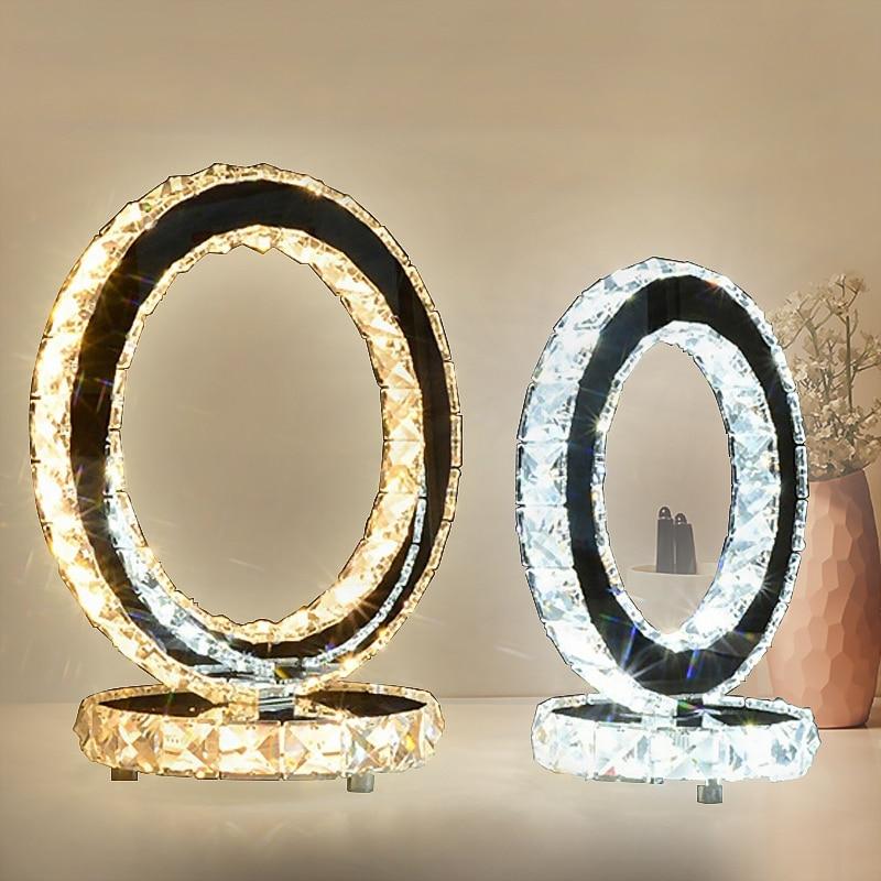 Modern Crystal Table Lamps For Bedroom,Living Room,Study,Office Modern Crystal Silver/Golden Desk LampModern Crystal Table Lamps For Bedroom,Living Room,Study,Office Modern Crystal Silver/Golden Desk Lamp