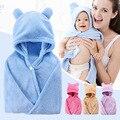 De algodón cuidado del bebé con capucha de toalla de baño de niño bebé niños Poncho toallas cosas * 65*110 cm bebé de baño con capucha toalla toalla