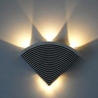 Led Lâmpadas de Parede Moderna de Alumínio Interior E Exterior Da Parede Da Tevê Tipo triângulo Lâmpada Ao Ar Livre Lâmpada de Parede À Prova D' Água E À Prova de Ferrugem luz
