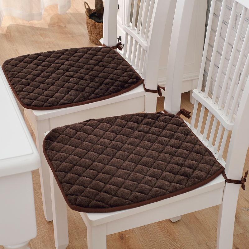6 Colors Winter Chair Cushions Non slip Seat Pad With Bandage Office Chair Cushion Throw Pillow 6 Colors Winter Chair Cushions Non-slip Seat Pad With Bandage Office Chair Cushion Throw Pillow Home Decoration Chair Cushion