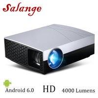 Salange F20 светодиодный проектор, опционально проектор для android устройств поддержки 4 K, AC3 4000 люмен 1280*800 HDMI, VGA, 1080 P, Hi Fi динамик для домашнего кино