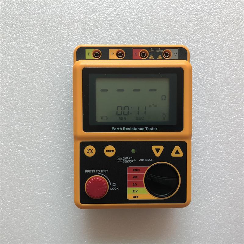 Smart Sensor AR4105A Digital Earth Ground Resistance Meter Tester Megger Test Meter Megohmmeter Range 0-200 Ohm 2/3Lines vici vichy vc480c 3 1 2 digital milli ohm meter resistance tester 4 wire test lcd multimeter diagnostic tool tester data hold