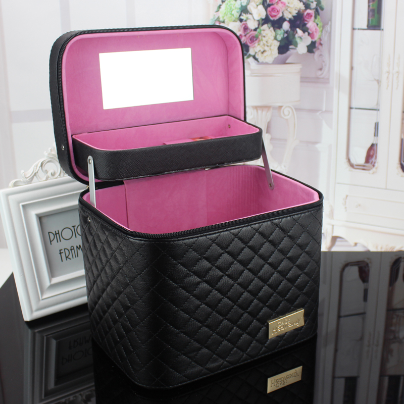 Hot Big Cosmetic Bags Women Travel Makeup Bag Professional Storage case for cosmetics Organizer Necessaries Make Up Case Beauty 2018 travel cosmetic bag packing cubes print makeup bags beauty case two tier cosmetics box waterproof organizer bag