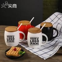 Custom LOGO Mugs Morden Style Ceramic Mug Coffee Cup Milk Mugs Porcelain Tea Cup With Handle Water Mugs DIY Printed Picture