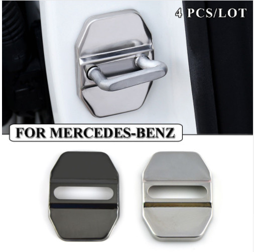 Ceyes Car Styling Stainless Steel Car Door Lock Cover Case For Mercedes Benz W211 AMG W204