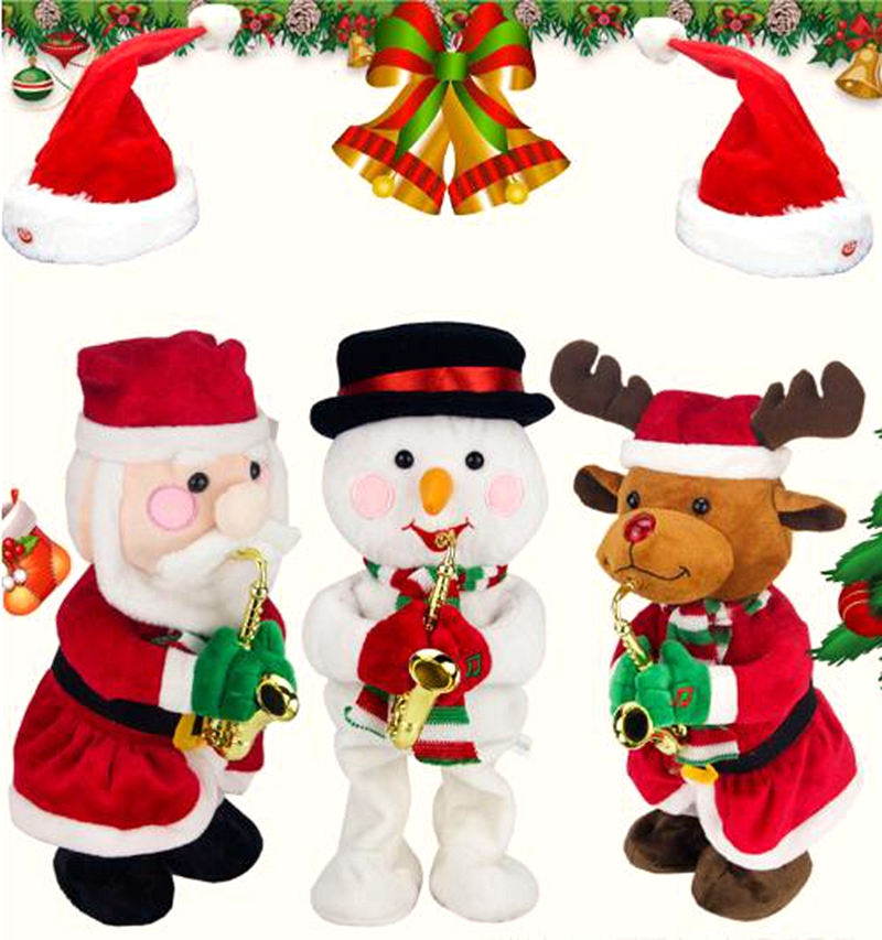 New Toys Christmas 2019.Us 15 17 10 Off 2019 New Exotic Toys Christmas Electric Dancing Music Santa Claus Doll Christmas Gift For Kids Christmas Decorations For Home In