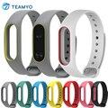 Reemplazo de alta calidad de silicona correas de colores para xiaomi mi banda 2 miband wrist strap 2 inteligente pulsera accesorios