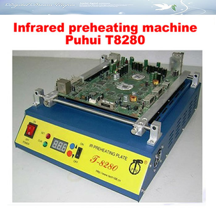 Infrared BGA Rework Station preheating machine T8280 preheater, preheating plate T8280,free ship!  цены