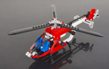 Block Aircraft/ Rescue Helicopter Plane Model Building Blocks Construction Bricks /Pixel airplane/building block airplane