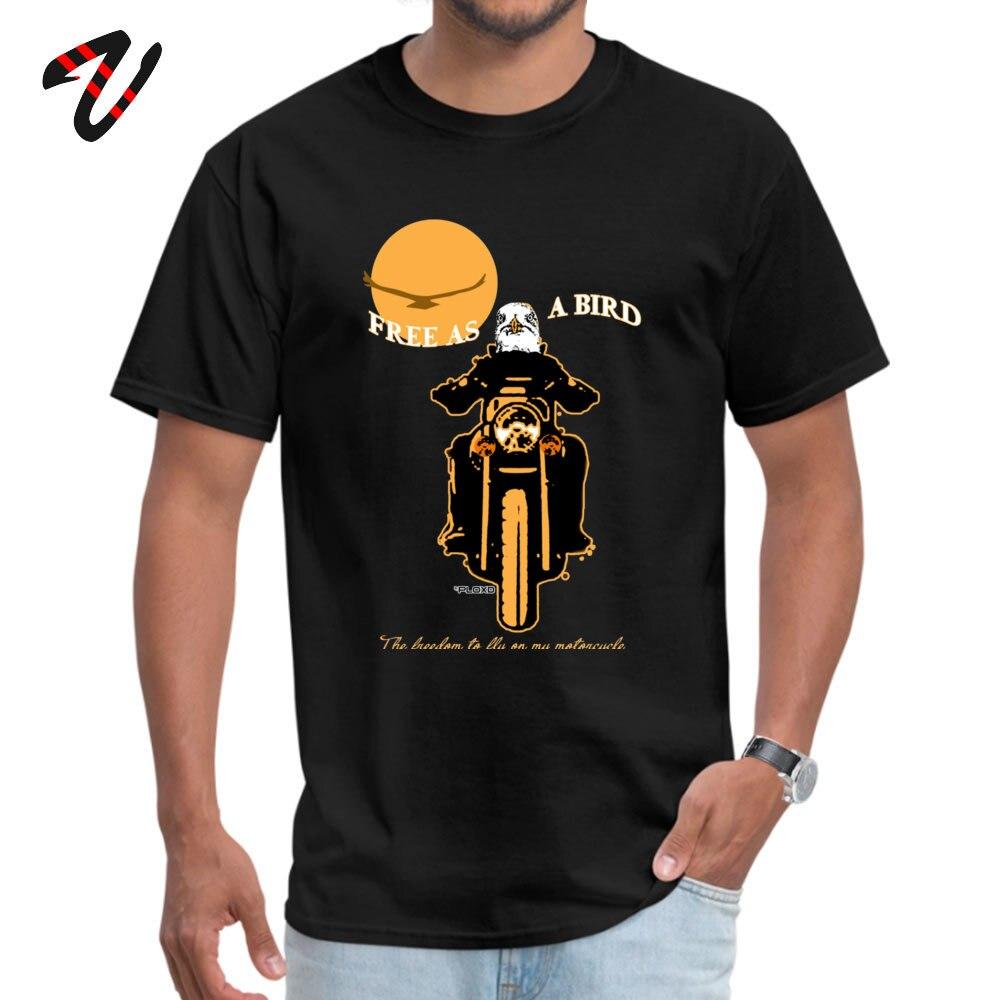 Free as a bird Funny Summer 100% Cotton Round Neck Boy Tops T Shirt Camisa Top T-shirts Cute Short Sleeve T-Shirt Free as a bird -2283 black