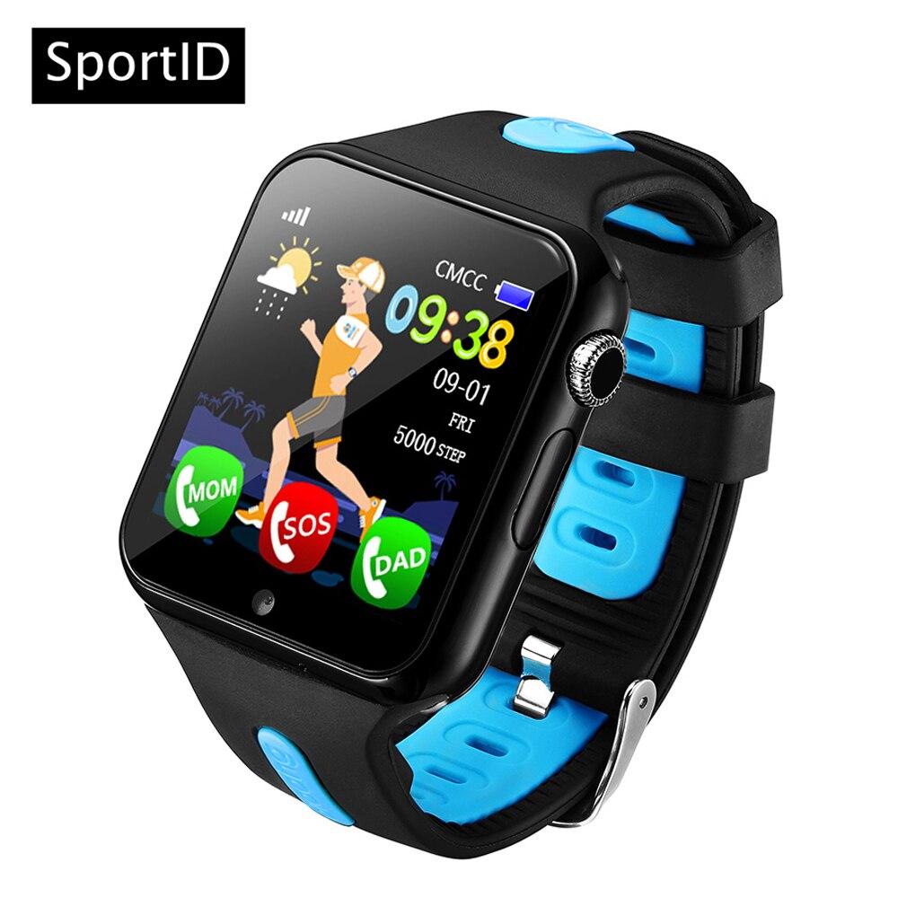 Детские умные часы детей V5K GPS местоположение спорт ребенок SmartWatch Водонепроницаемый Поддержка sim-карты Камера безопасности телефона часы де...