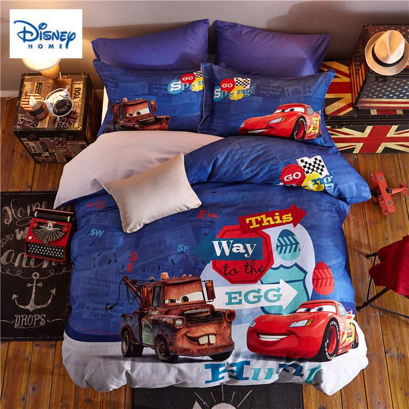 disney mcqueen car bedding set queen size comforter duvet ...