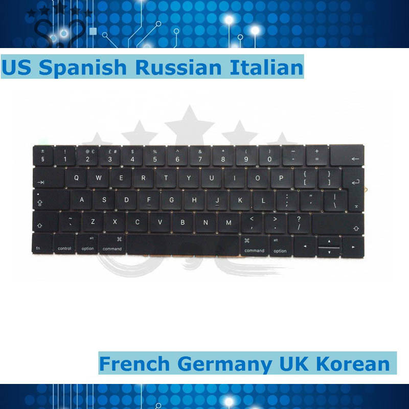 A1707 French German Italy Spain Russia Korea US UK Keyboard For Macbook Pro Retina 15 2016
