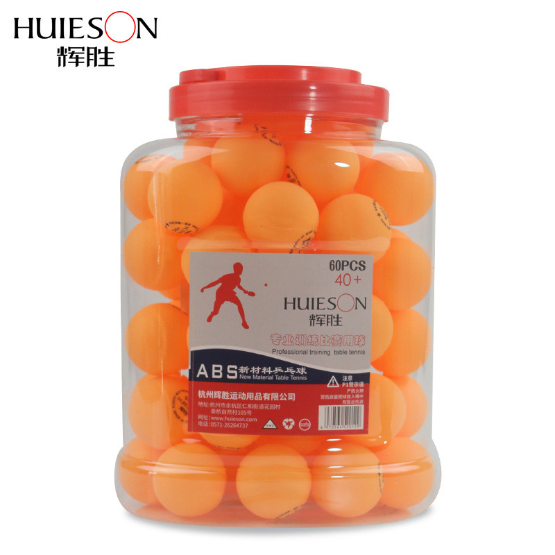 Huieson 60pcs / 배럴 1 별 탁구 공 신소재 ABS 플라스틱 탁구 공 S40 + 학교 클럽 교육을위한