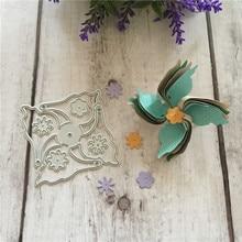 DIY Windmill flower Die Cut Metal Dies 3d Spinner Diy Scrapbook Card Pincer Fan Party Embossing Folder Template Stencils