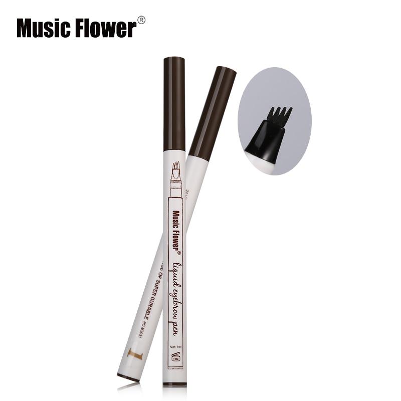 Music Flower Liquid Eyebrow Pencil Fine Sketch Eye Brow Tattoo Pen Waterproof