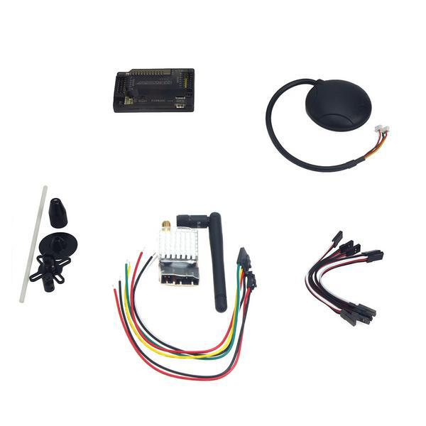 F15441-E APM2.8 ArduPilot Flight Control with Compass 6M GPS GPS Folding Antenna 5.8G 250mW TX for DIY FPV RC Drone Multicopter f2s flight control with m8n gps t plug xt60 galvanometer for fpv rc fixed wing aircraft