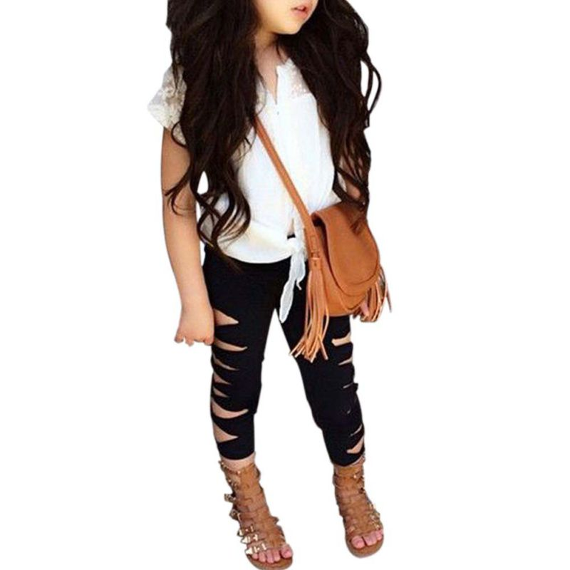 2017 fashion solid baby girls short sleeve tops cotton