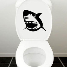 Vicious Shark Face Bathroom Decoration Decal Toilet Stickers Home Decoration Accessories 4WS-0063(China)