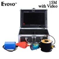 Eyoyo 15M 1000TVL Fish Finder Fishing Camera Monitor With Sun Visor Infrared IR LED